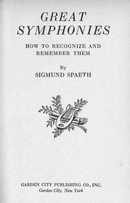 Spaeth - title page
