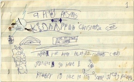 Kidnapped Christmas Cards, c. 1990 - 1