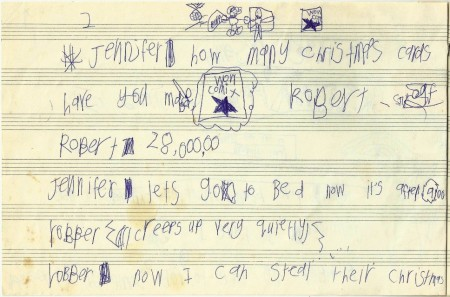 Kidnapped Christmas Cards, c. 1990 - 2