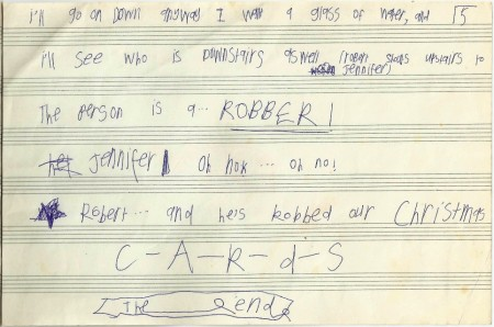 Kidnapped Christmas Cards, c. 1990 - 5