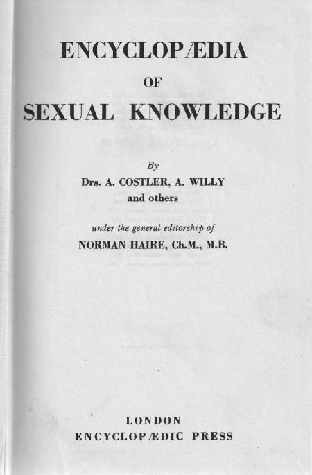 Encyclopaedia of Sexual Knowledge