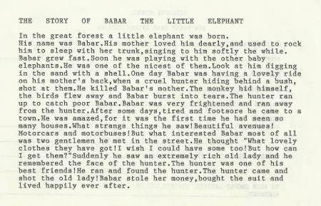 The Story of Babar, c. 1990